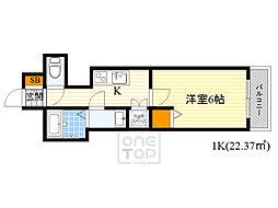 Royal Ashley Miyakojima 7階1Kの間取り