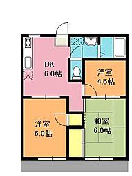 埼玉県上尾市大字原市の賃貸アパートの間取り