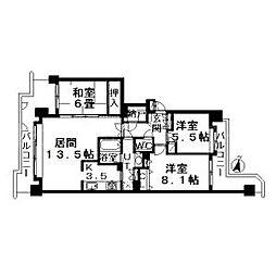 円山南6条シティハウス[10階]の間取り