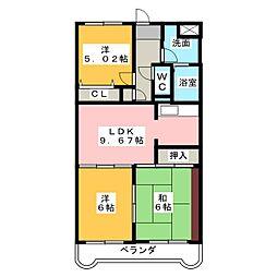 エスペランサ水戸島[4階]の間取り