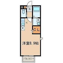 インパレス三原台[2階]の間取り