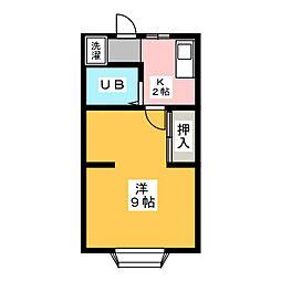 コーポコヤマ1[1階]の間取り