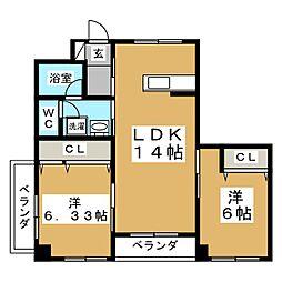 第4ジーオンビル[1階]の間取り