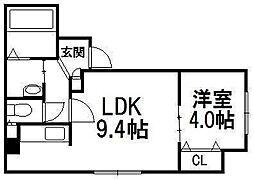 SUONO南円山[401号室]の間取り