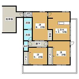 シンコーユーハイツ植園[3階]の間取り