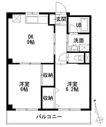 第2三ツ樋マンション[2階]の間取り