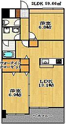 千葉県船橋市海神町東1丁目の賃貸マンションの間取り