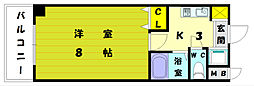 YSKパークハウス[3階]の間取り