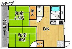 坂本マンションV[4階]の間取り
