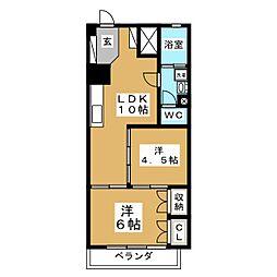 シャンボール石名坂 903号室[9階]の間取り
