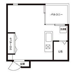 A2ビル[213号室]の間取り