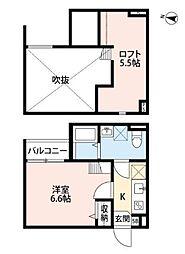 ルミエール武庫之荘[1階]の間取り