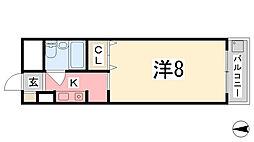 ロッキーコート太子[605号室]の間取り