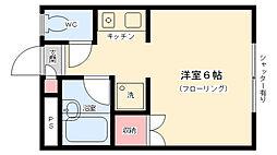 ▲フォーレスト海藤B[102号室]の間取り