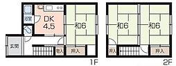 [一戸建] 兵庫県姫路市井ノ口 の賃貸【兵庫県 / 姫路市】の間取り