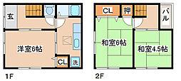 [一戸建] 兵庫県神戸市須磨区東町3丁目 の賃貸【兵庫県 / 神戸市須磨区】の間取り