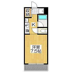 ロイヤルレジデンス岡崎[305号室]の間取り