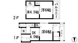 [一戸建] 兵庫県川西市平野2丁目 の賃貸【兵庫県 / 川西市】の間取り
