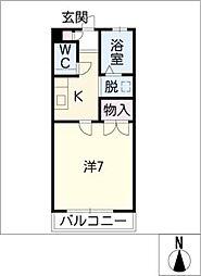 コーポ美寿乃[2階]の間取り