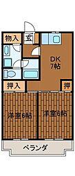 サンシャイン矢部[2階]の間取り