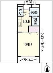 GRACE大井I[2階]の間取り