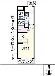 ルピナス春田[3階]の間取り