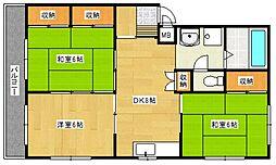 車屋第5ビル[305号室号室]の間取り