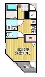 プログレス町田(ProgressMACHIDA)[1階]の間取り