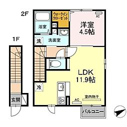 (仮称)D-room出雲市白枝町[2階]の間取り