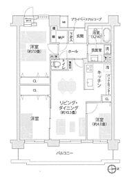 間取り(令和元年5月内装リフォーム完了のきれいなお住まい。きれいな環境で新生活をスタートできます。)