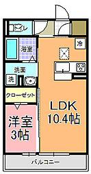 仮)D−room中成沢町[105号室]の間取り