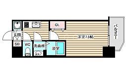 S-RESIDENCE大阪九条North 4階1Kの間取り
