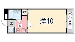 ラ・バレーヌ辻井[408号室]の間取り