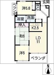 LEVEL FOUR[5階]の間取り