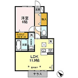 ボスケット[1階]の間取り