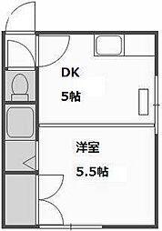 第7森宅建平岸ビル[408号室]の間取り