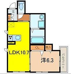 マンション鷹の巣 D棟[3階]の間取り