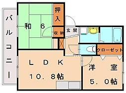 シャーメゾン樟陽B[1階]の間取り