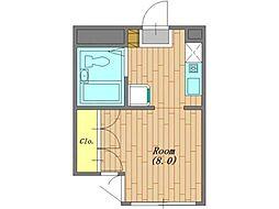 サンクレール相模原[1階]の間取り