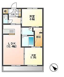 潮見通りマンション[3階]の間取り
