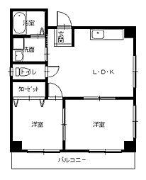 長崎県長崎市泉1丁目の賃貸マンションの間取り