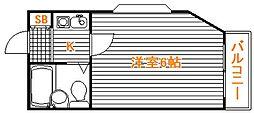 埼玉県さいたま市桜区南元宿2丁目の賃貸アパートの間取り