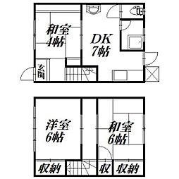[テラスハウス] 静岡県浜松市南区渡瀬町 の賃貸【/】の間取り