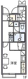 レオパレスラーク[1階]の間取り