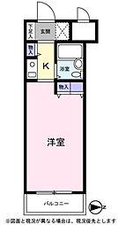 パレ・ドール湘南平塚[509号室]の間取り