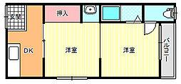 Rアッシュ矢田[2階]の間取り