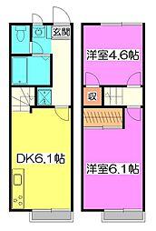 [テラスハウス] 東京都清瀬市中里3丁目 の賃貸【/】の間取り