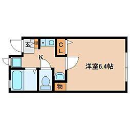 奈良県奈良市南紀寺町5丁目の賃貸アパートの間取り