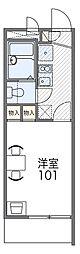 JR阪和線 三国ヶ丘駅 徒歩10分の賃貸マンション 1階1Kの間取り