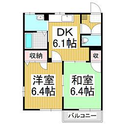 ダイヤモンドディアスmizuya C[1階]の間取り